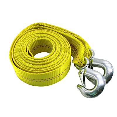 HFS (R) 4.5 Ton 2 Inch x 20 Ft. Polyester Tow Strap Rope 2 Hooks 10000lb Towing Recovery: Automotive
