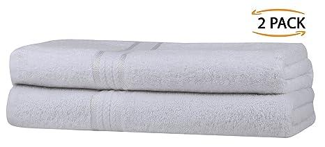 SweetNeedle Super Soft 2 Pack Toallas de baño extragrandes 70x140 Blanco, 580 GSM - 100