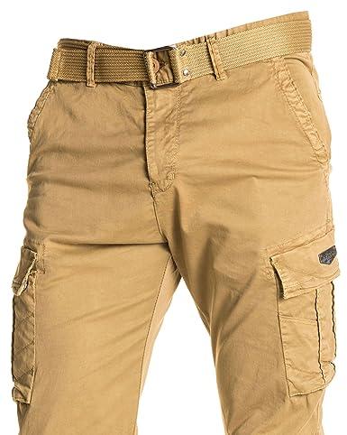 invaincu x prix favorable variété de dessins et de couleurs Legenders - Pantalon Cargo Beige Chevilles élastique avec ...