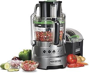 Hamilton Beach Professional 14-Cup Dicing Food Processor BPA-Free Bowl, Extra-Wide Feed Chute (70825)