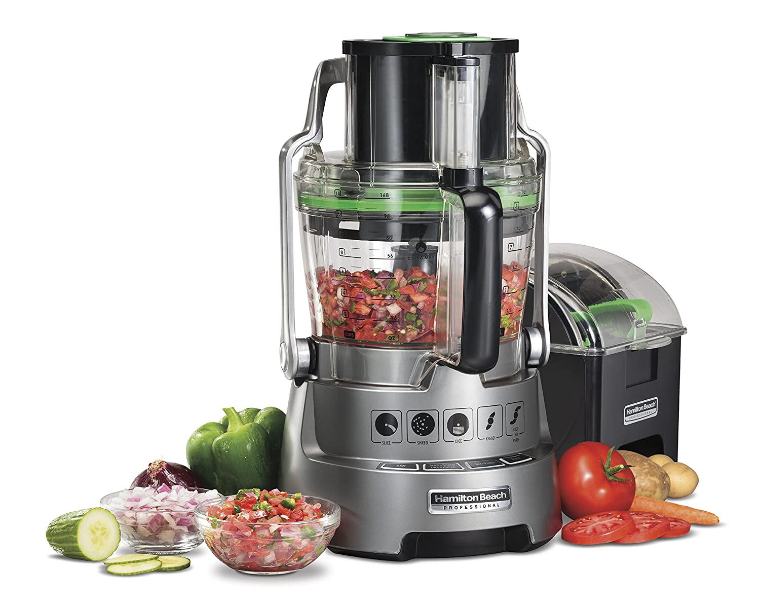 Hamilton Beach Professional Dicing Food Processor with 14-Cup BPA-Free Bowl (70825)