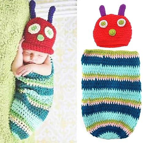 PIXNOR Raupe Stil Baby Kleinkinder Neugeborenen Handarbeit häkeln ...