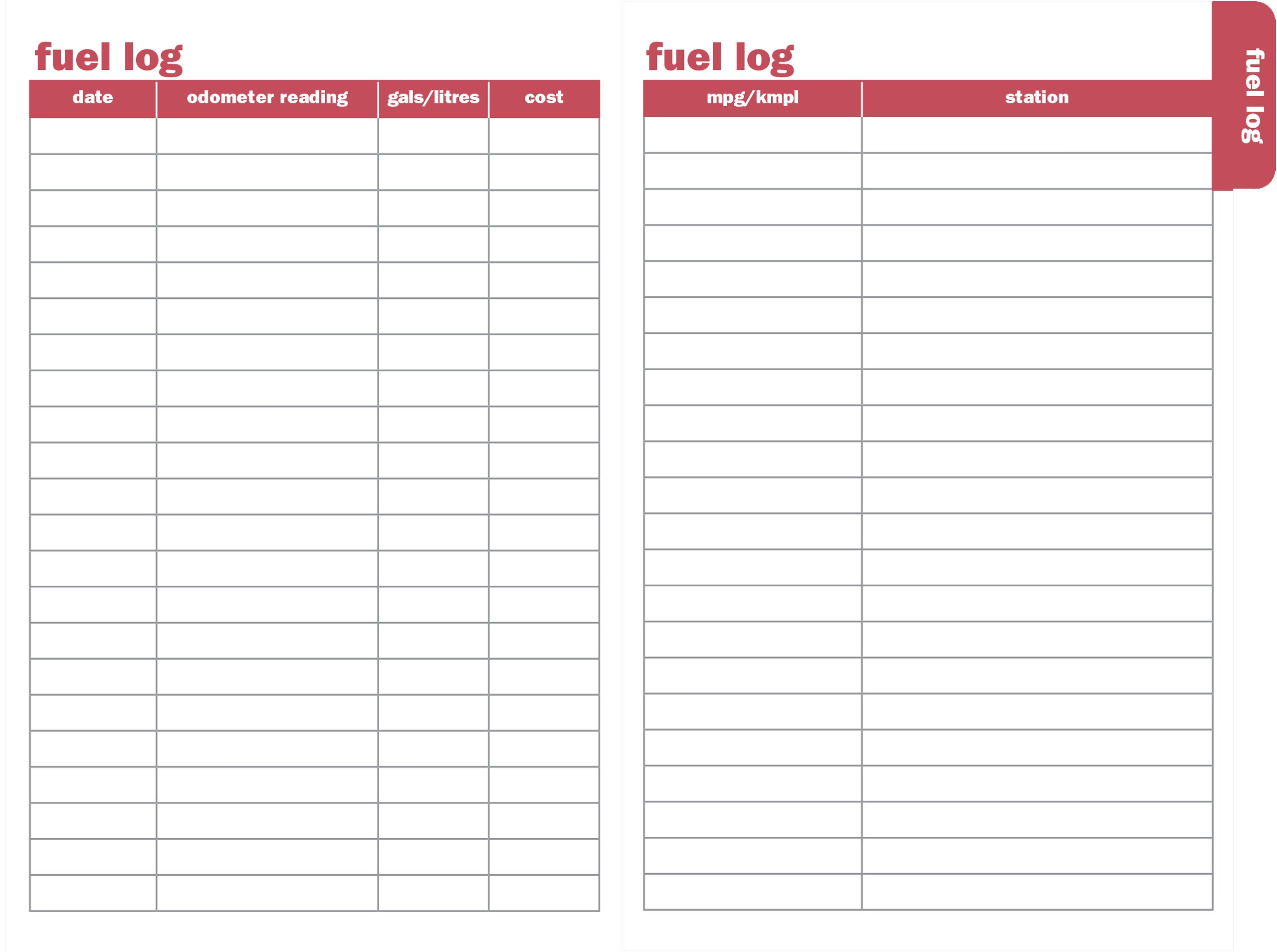 amazon auto log keep track of fuel trips repairs and