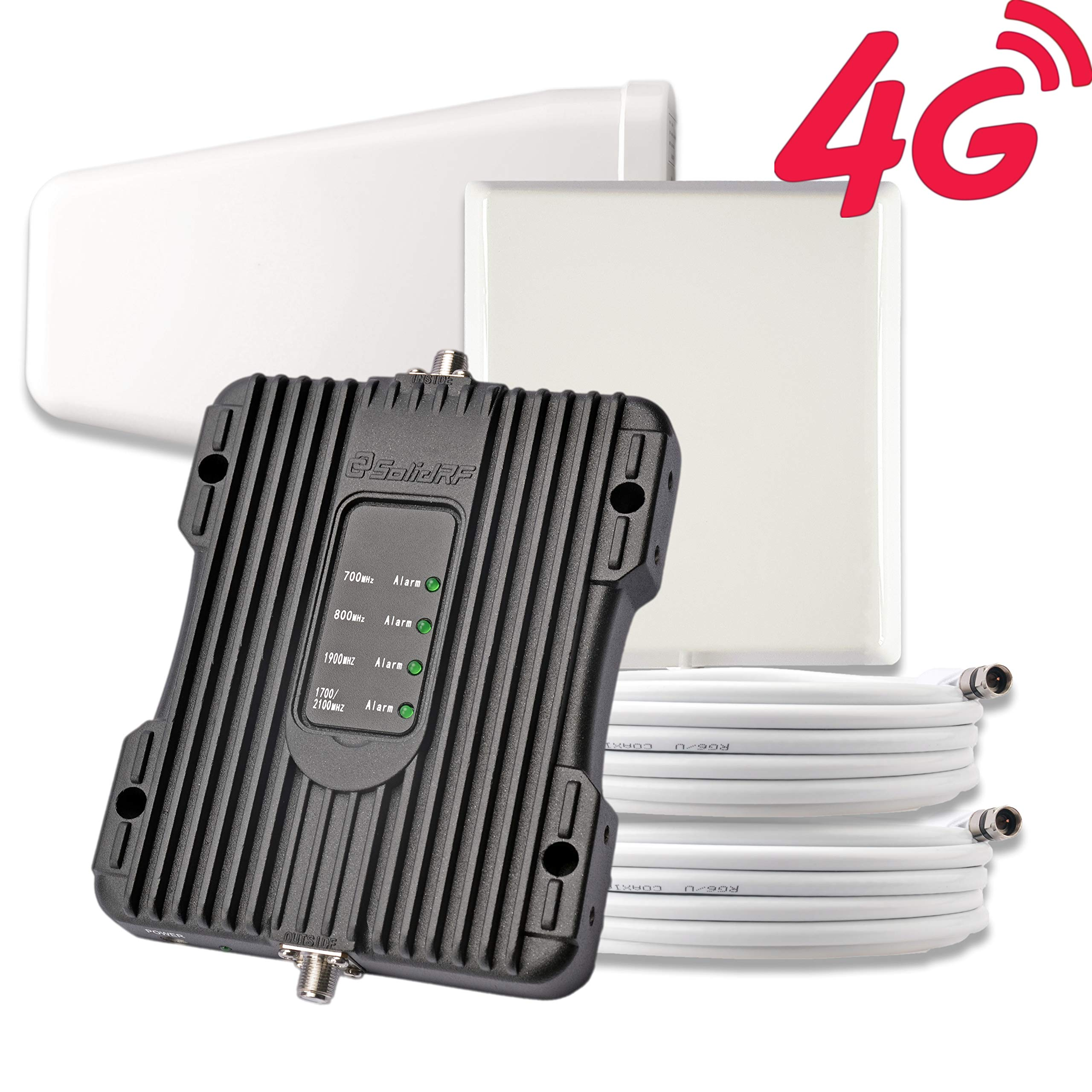 SolidRF Cell Phone Booster 4G Kit Cell Phone Signal-Booster for Home Office Supports 4000 SQ Ft by SolidRF