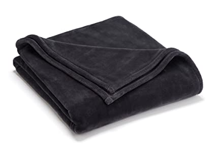 Vellux Sheared Mink King Blanket Charcoal Grey