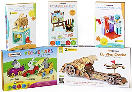 Buy funvention educational toy gift hamper set of 5 innovative diy funvention educational toy gift hamper set of 5 innovative diydo it yourself solutioingenieria Images