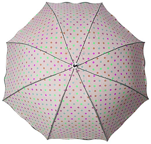 SAMAA Women's Polyester Umbrella with Cover (Pink)