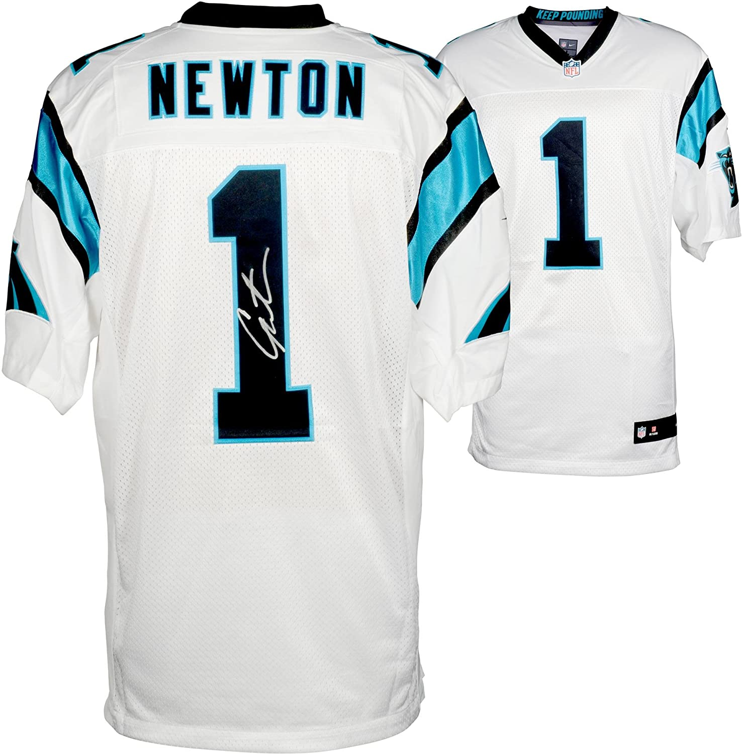 Cam Newton Carolina Panthers Autographed Nike Elite White Jersey - Fanatics  Authentic Certified - Autographed NFL Jerseys at Amazon s Sports  Collectibles ... ec14d15fb