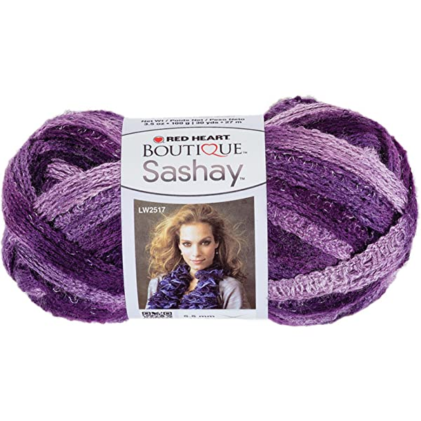 Ruffle Yarn Crochet Yarn Red Heart Boutique Sashay Craft Project Yarn Fishnet Ruffle Yarn Jive Sashay Yarn Shades of Teal Yarn