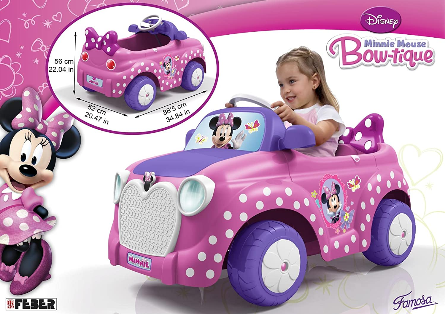Feber Minnie Car 6 V Coche Famosa 800008603 Amazon Es Juguetes