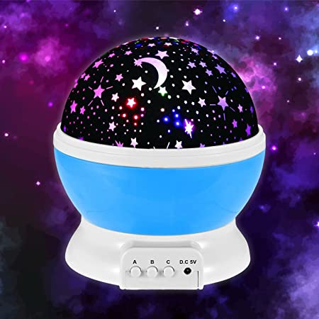Galaxy Night Light Projector   Best Calming Rotating Color Changing LED  Lights Sky Projection Lamp For