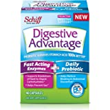 Digestive Advantage Fast Acting Enzymes + Daily Probiotic - Helps prevent gas & break down food particles, 40 Capsules