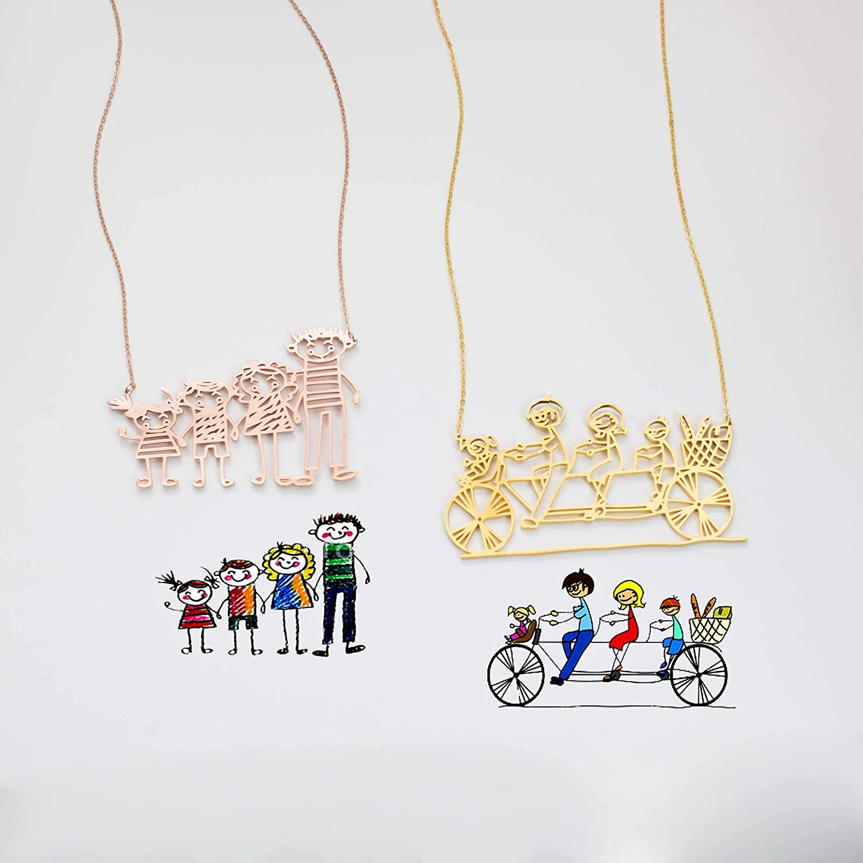 Kids drawing bracelet; custom children artwork bracelet; engraved bracelet; kids drawing jewelry; kids art gift; gift for mom /& grandma