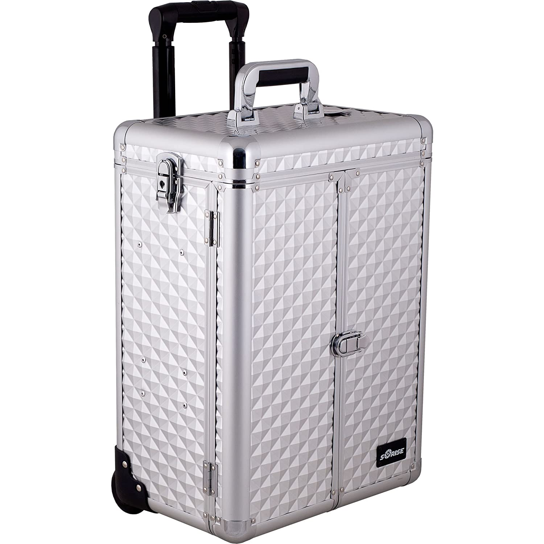 00b6ddb21b7f Amazon.com   Sunrise Cestello 2-In-1 Rolling Makeup Case Professional Nail  Travel Organizer Box
