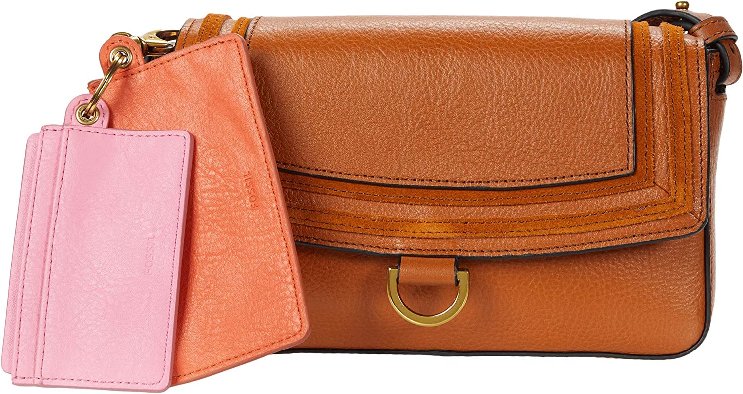 Fossil Women's Millie Leather Mini Bag Wallet Purse With Removable Card Case
