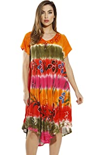 b20cd7be082 Riviera Sun Tie Dye Hanky Dress Summer Dresses for Women at Amazon ...
