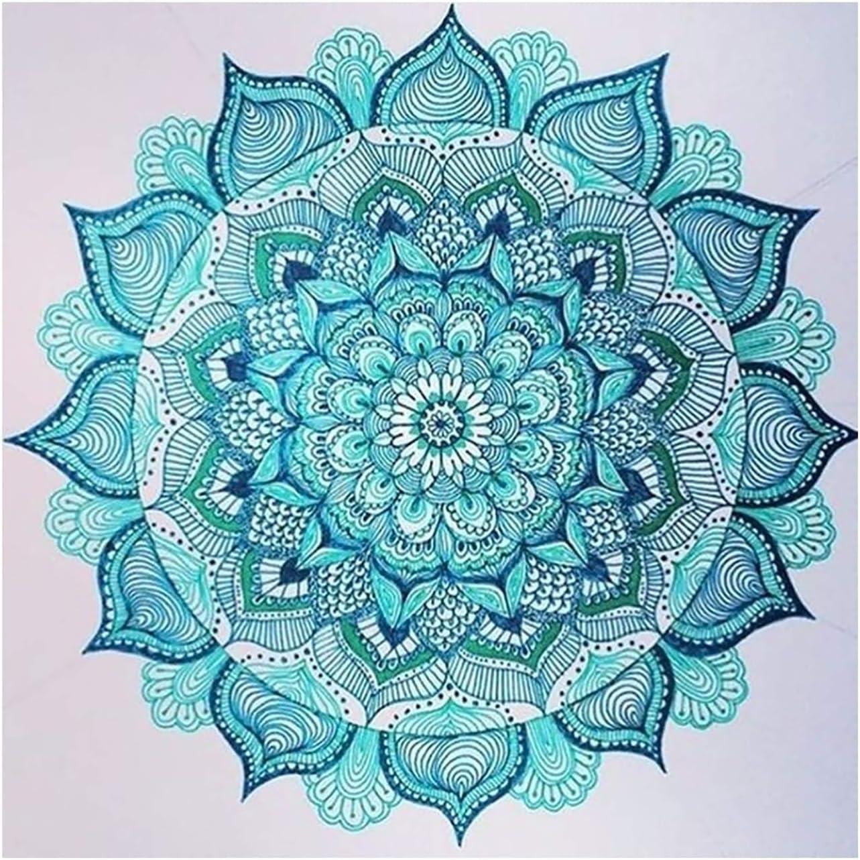 Bimkole Diamond Painting Pintura Diamante 5D Flor Mandala Bricolaje Arte x3-286 Completo Taladro Diamantes de Imitaci/ón Decoraci/ón de Pared de Sal/ón 30 30cm