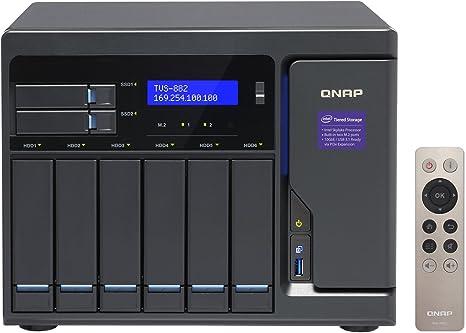 QNAP TVS-882 Ethernet Torre Negro NAS - Unidad Raid (60 TB, Unidad ...