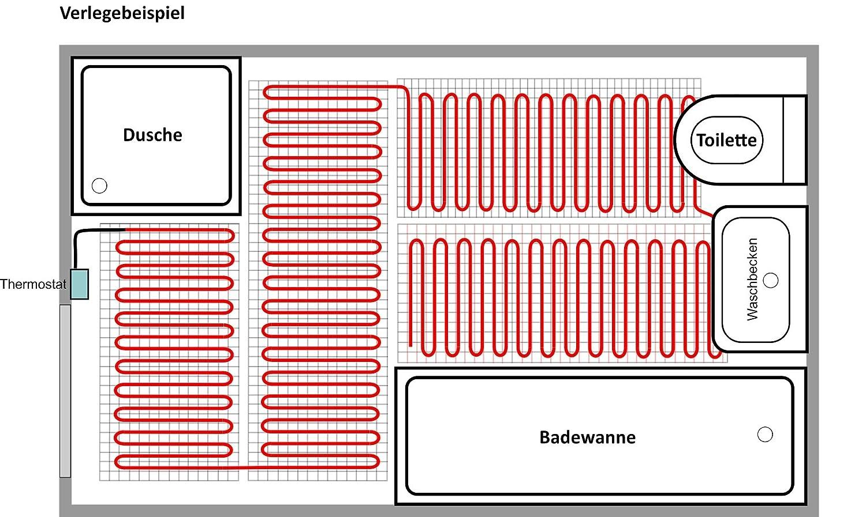 Set calefacci/ón el/éctrica bz-150 plus//3,8 m/² Bodenheizung 24