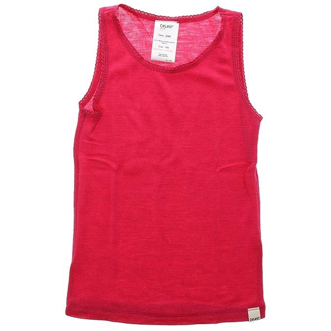 Celavi Camiseta interior de lana de niña, Sin mangas, Edad: 3-4