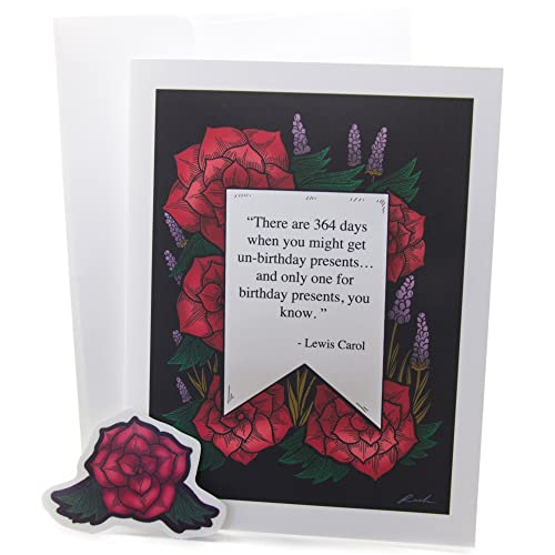 Amazoncom Alice In Wonderland Unbirthday Quote Greeting Card With
