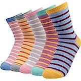La Dearchuu Winter Socks Warm Wool Socks for Women Crew Cushion Socks Thick Thermal Socks, Mixed Color 5 Pairs