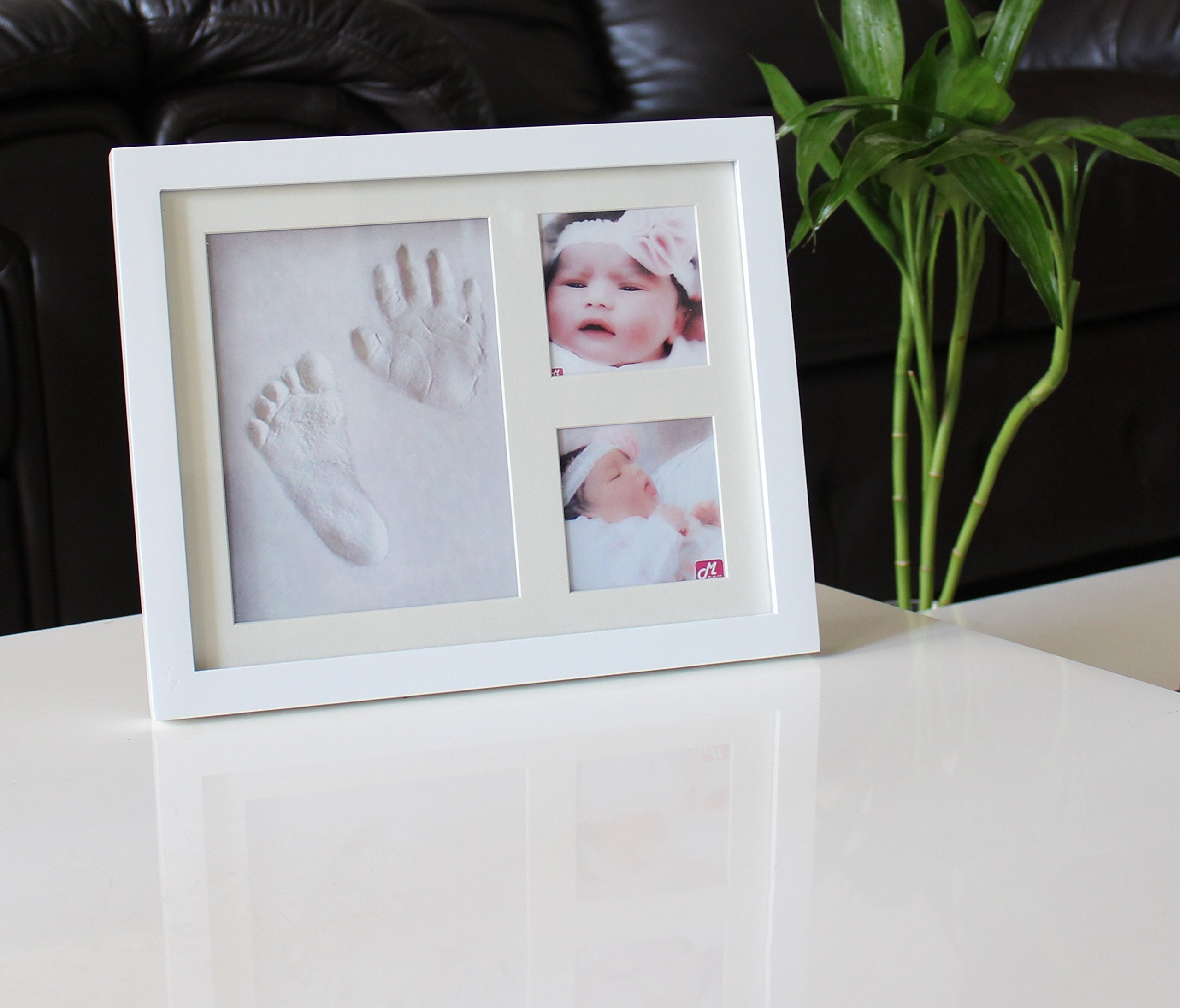 DiMOD Baby Handprint & Footprint Photo Frame Kit for Boys and Girls Baby gifts for room and wall decorations by DiMOD (Image #1)