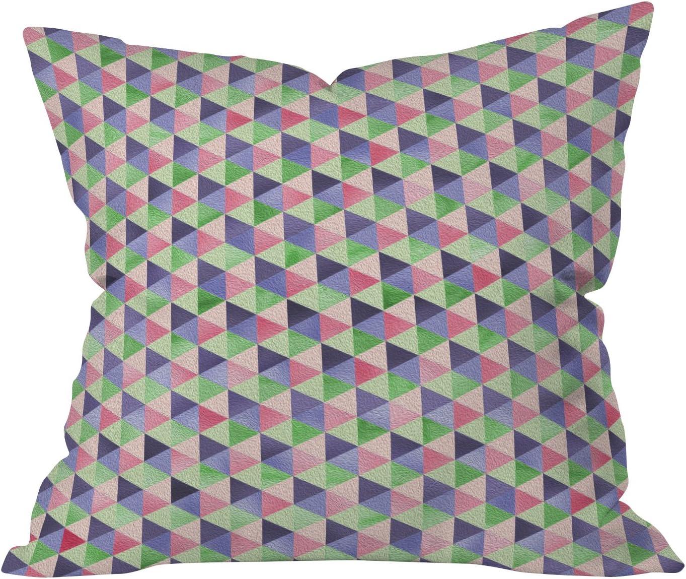 Deny Designs Lara Kulpa Retro Cubic Summer Throw Pillow, 26 x 26