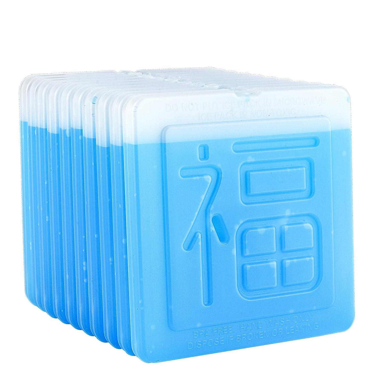 OICEPACK Ice Packs (set of 10) Ice Packs for Lunch Box Ice Packs for Cooler Lunch Boxes Cool Packs Thin Flat Ice Packs Fit all Kinds of Lunch boxes