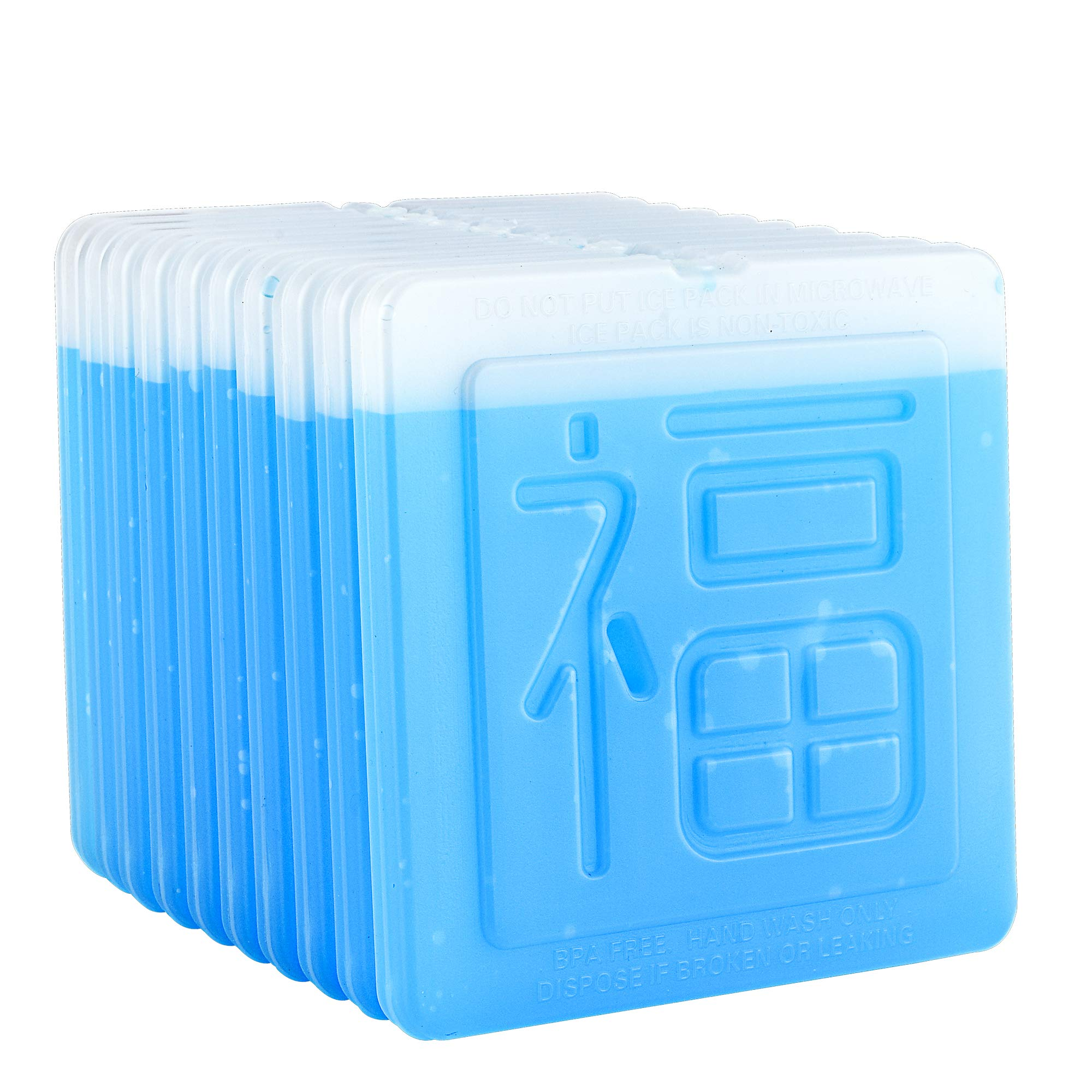 OICEPACK Ice Packs (set of 10) Ice Packs for Lunch Box Ice Packs for Cooler Lunch Boxes Cool Packs Thin Flat Ice Packs Fit all Kinds of Lunch boxes