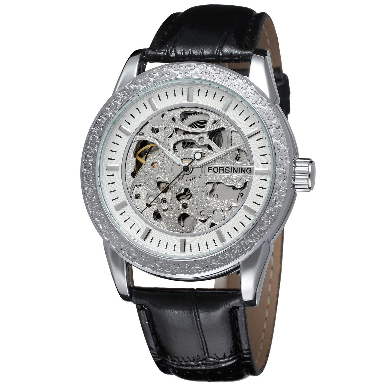 FORSININGメンズスタイリッシュ自動self-wind機械スケルトンアナログスポーツ腕時計fsg8086 m3s3 B0144H6JC2