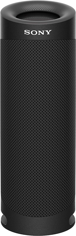 Sony SRS-XB23 - Altavoz Bluetooth Potente, con Luces, Extra Bass, Resistente al Agua, Polvo, óxido, Golpes y Larga duración de batería de hasta 12h, Negro