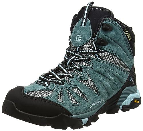 Merrell Capra Mid Gore-Tex, Zapatos de High Rise Senderismo para Mujer, Verde