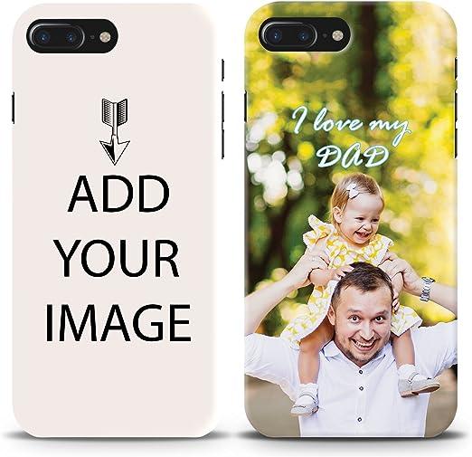 faire votre propre étui personnalisé – personnalisée Coque Ajoutez Impression photo de texte Logo Image pour Apple iPhone 8 Plus