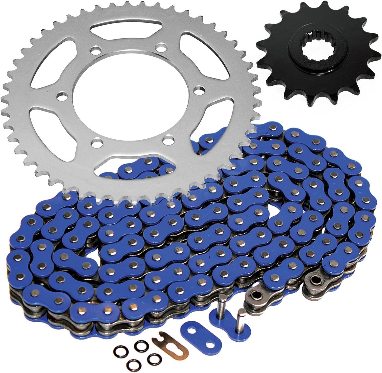 Blue 1999-2002 Yamaha YZF R6 O-Ring Chain and Sprocket Kit