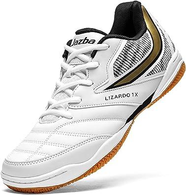 Jazba LIZARDO 1X Indoor Court Shoes for Men, Non Marking Non Skid Grip Rubber Sole, Squash Badminton Table Tennis Indoor Cricket, Classic Comfort