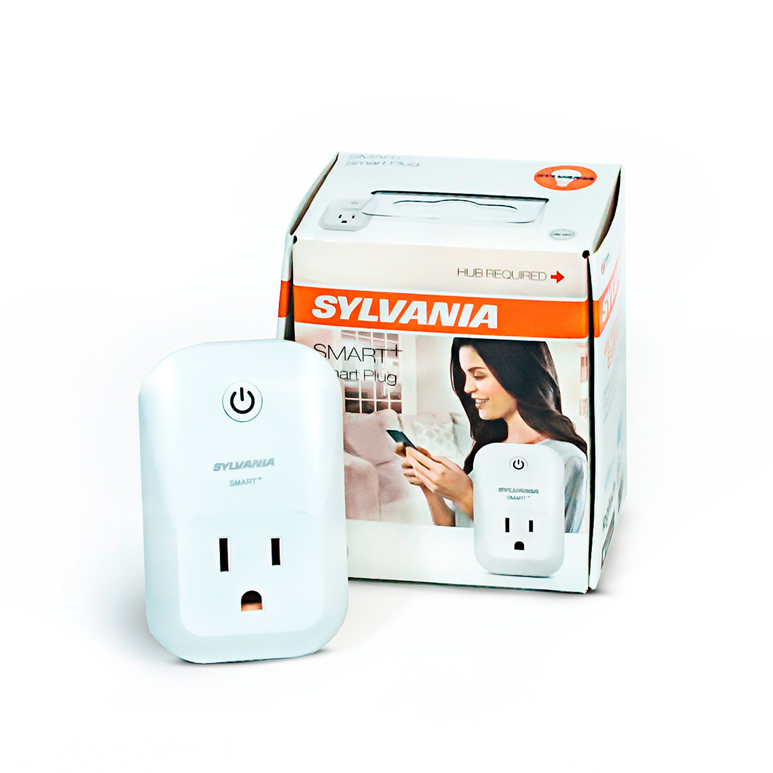 SYLVANIA SMART+ ZigBee Indoor Smart Plug, Works with SmartThings, Wink, and Amazon Echo Plus, Hub Needed for Amazon Alexa and the Google Assistant