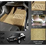 Volga Heavy Duty Anti Slip Noodle Nomad Style Car Floor Mats Set Of 5 Beige For Maruti Suzuki Baleno Old