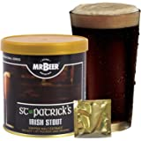 Mr. Beer St. Patrick's Irish Stout 2 Gallon Homebrewing Craft Beer Making Refill Kit with Sanitizer, Yeast and All Grain Brewing Extract Comprised of the Highest Quality Barley and Hops