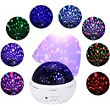 Stars Sky Night Light Projector, Etpark LED night light Lamp Romantic Rosebud Flower Design 360 Degree Rotating Ceiling Projector Light for Nursery Baby Children Bedroom Living Room