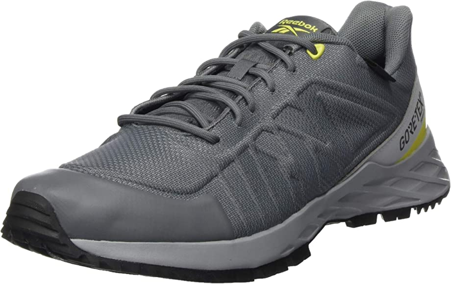 Objetor sobrino bala  Reebok Men's Astroride Trail GTX 2.0 Gymnastics Shoe, Pure Grey 4/Pure Grey  6/Heron Yellow: Amazon.co.uk: Shoes & Bags