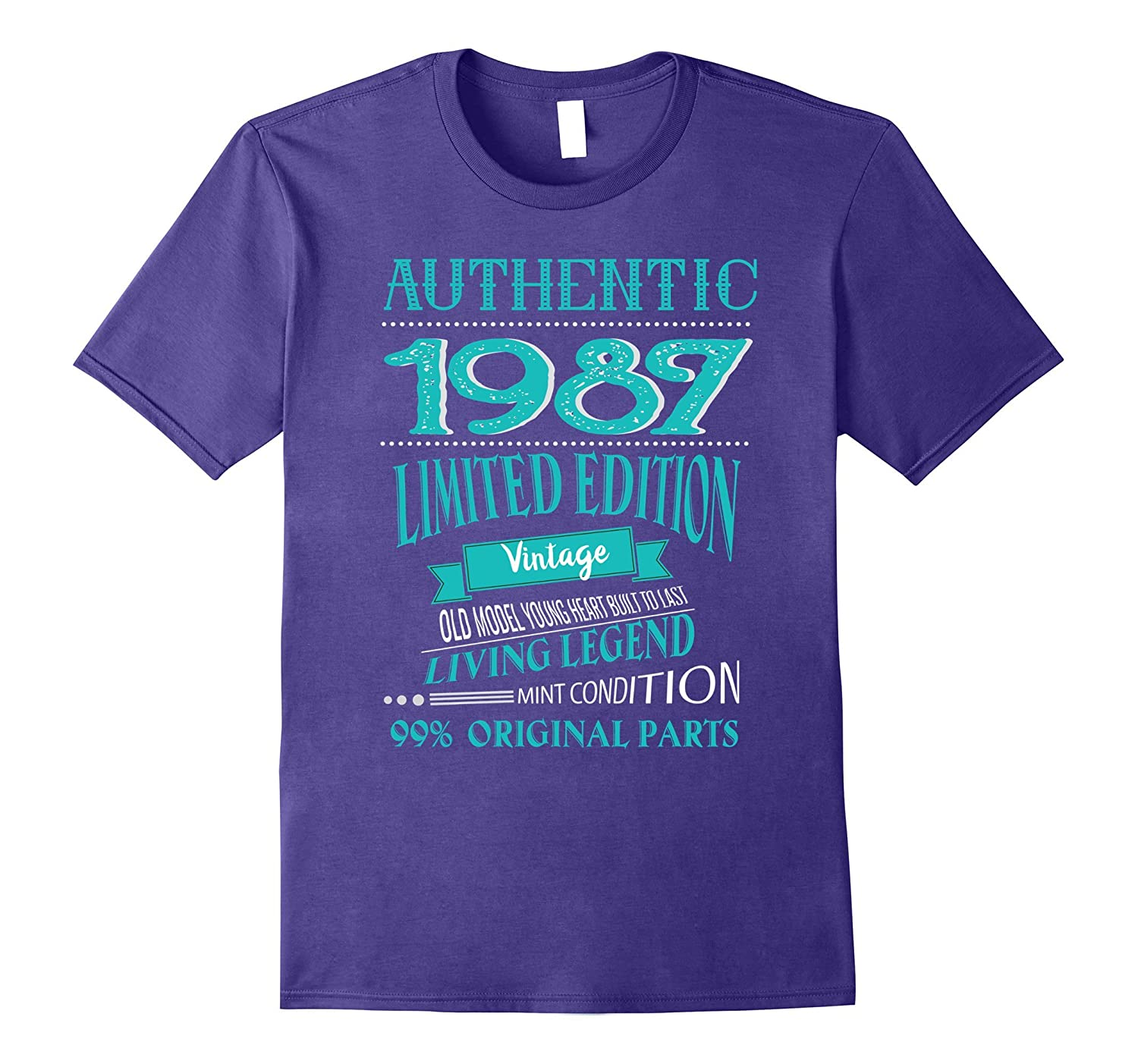 Vintage Born in 1987 30th Birthday 30 Years Old Awesome-FL