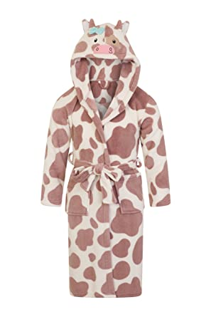 Mum And Daughter Matching Dressing Gowns Hooded Animal Print Robe ...