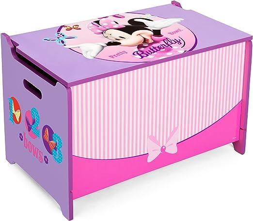 Delta Kids Caja de Juguetes, Madera, Minnie Mouse, 1 Unidad ...