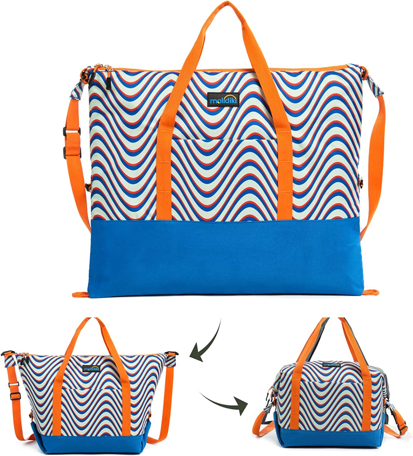 Insulated Grocery Shopping Bag, Reusable Thermal Tote Bag, Collapsible,