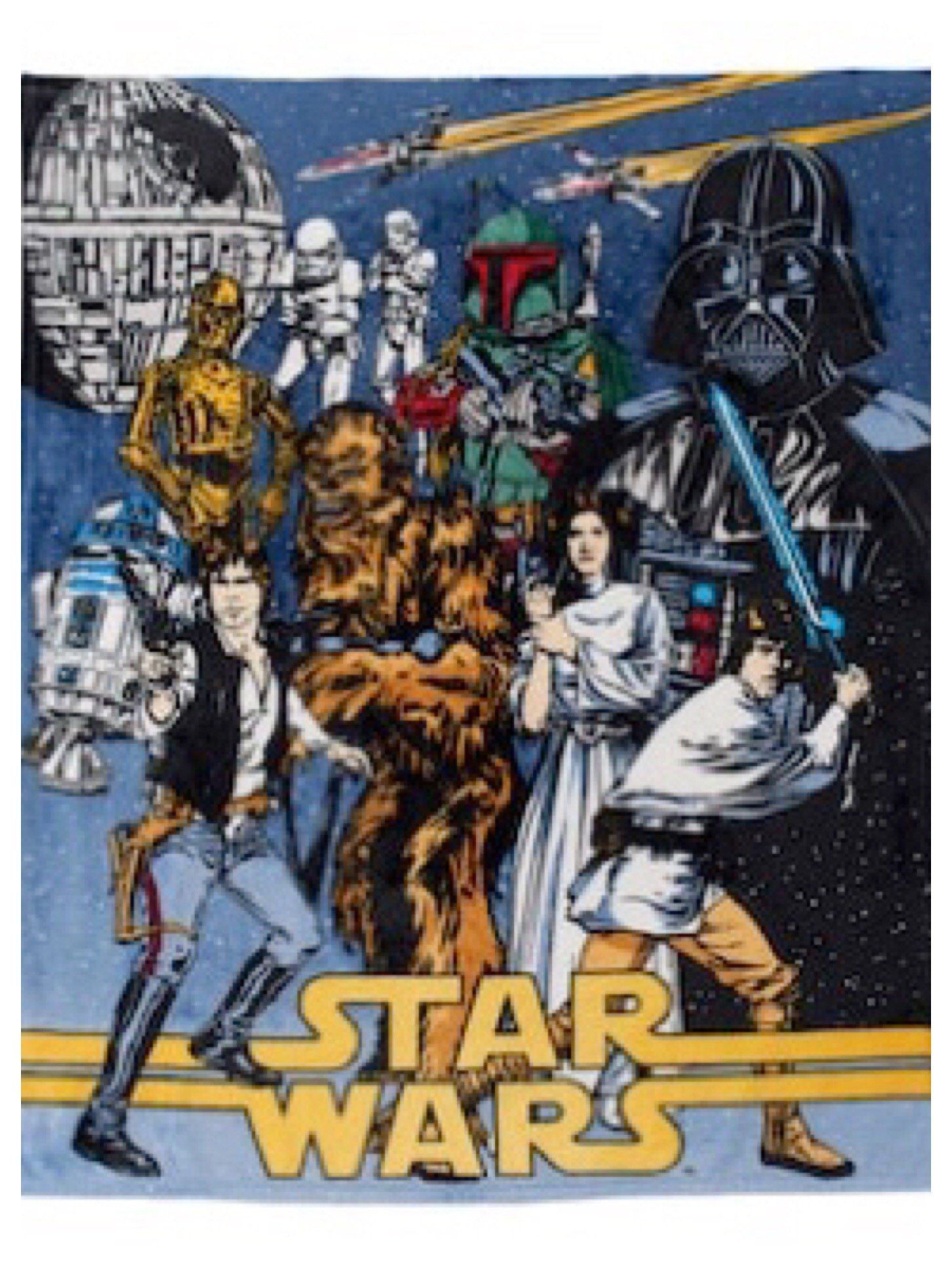 Star Wars Classic Poster 50'' x 60'' Plush Throw by Lucas Film