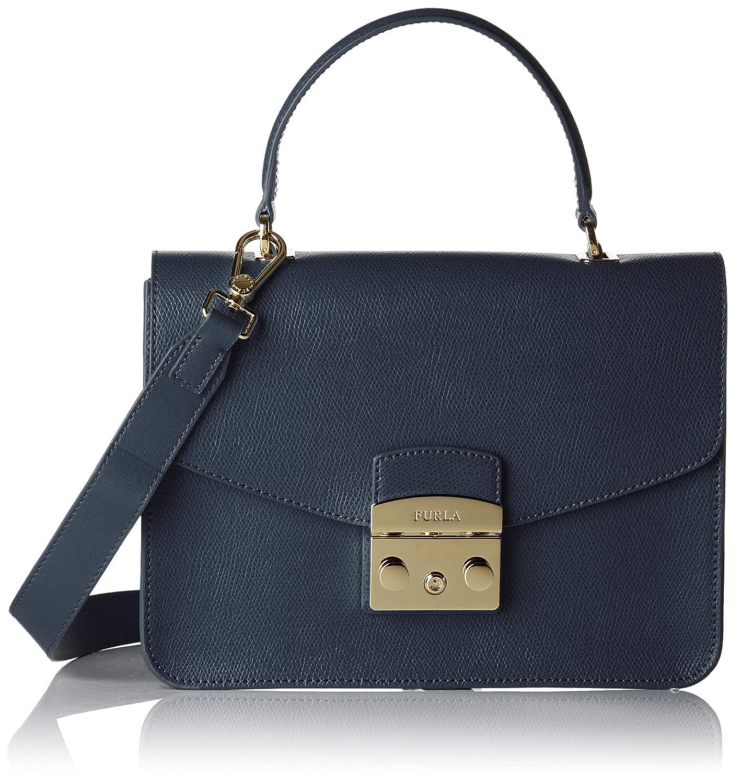 f8c30ff56f FURLA Metropolis - Borsa Donna, Blu (Blu D), 7.5x17x23 cm (B x H T):  Amazon.it: Scarpe e borse