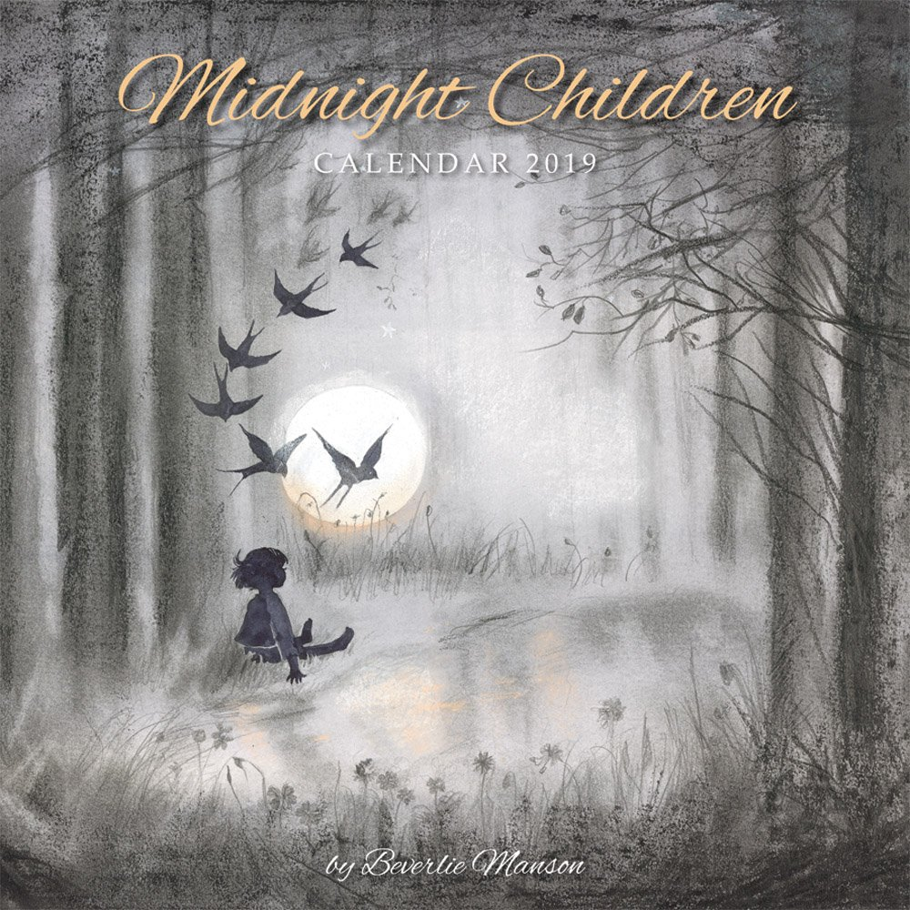 Midnight Children 2019 12 x 12 Inch Monthly Square Wall Calendar with Glitter Flocked Cover Featuring the Artwork of Beverlie Manson by Flame Tree, Illustrator Artist Drawings ebook