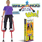 Walkaroo Wee Balance Stilts for Little Kids & Beginners Red or Blue (Assorted)