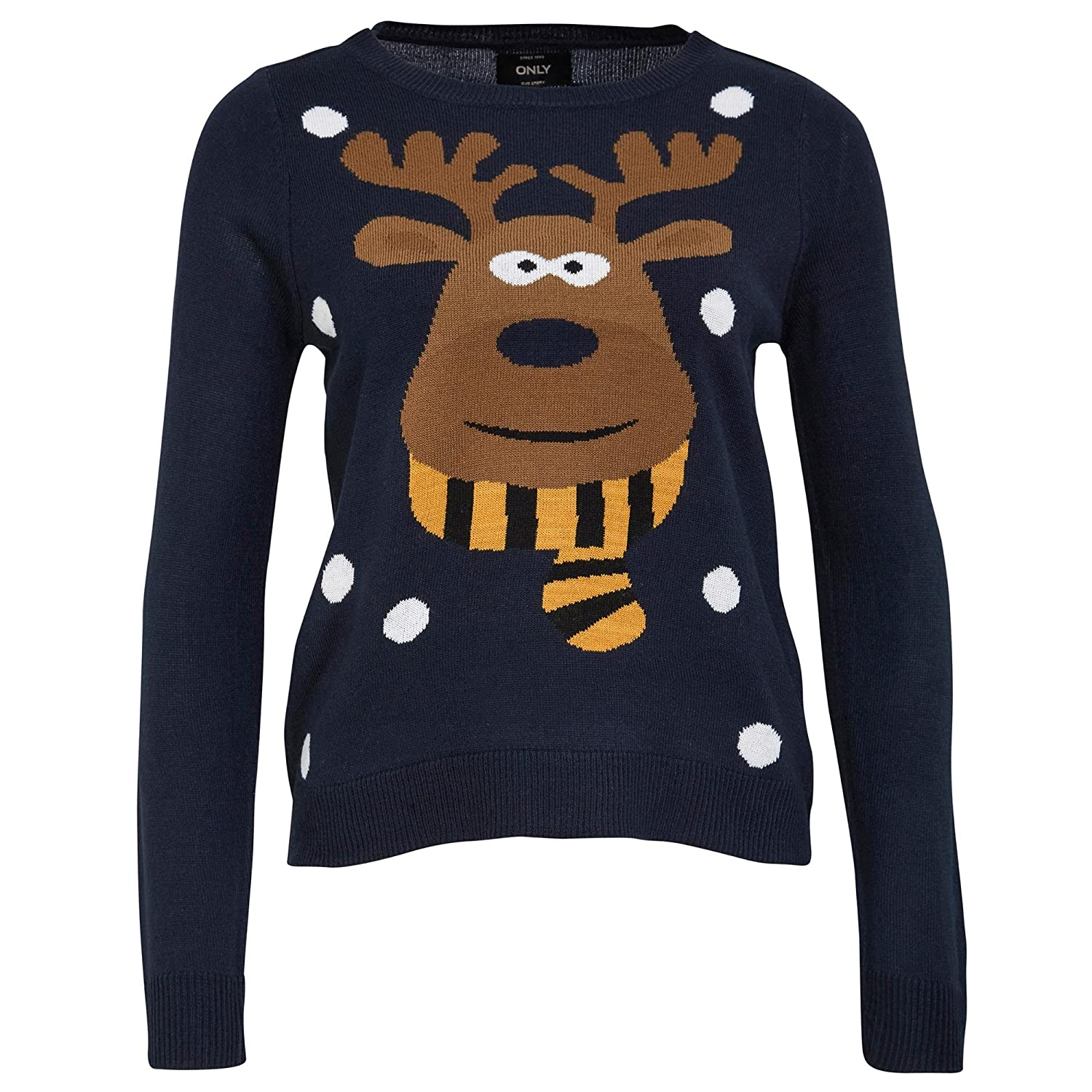 9c9b3b69c7 new Only Damen Pullover X-mas Weihnahts Elch onlX-RED NOSE L/S KNT ...